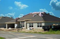 Nueva construcción casera Foto de archivo libre de regalías