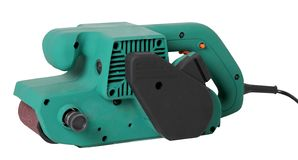 Nueva correa eléctrica profesional Sander For Home Handyman Use foto de archivo libre de regalías