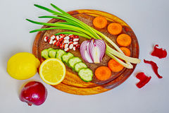 Nueva cosecha, un plato de verduras Fotos de archivo
