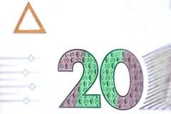 Nueva denominación del billete de banco de 20 UAH Cierre ucraniano del dinero para arriba imagen de archivo libre de regalías