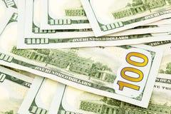 Nueva edición 100 billetes de banco del dólar, dinero para el crédito y ventaja Fotos de archivo libres de regalías