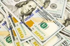Nueva edición 100 billetes de banco del dólar, dinero para la propiedad y riqueza Imagen de archivo libre de regalías