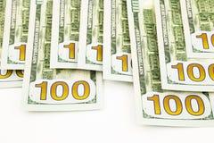 Nueva edición 100 billetes de banco del dólar, dinero para los fondos y beneficios co Fotografía de archivo libre de regalías