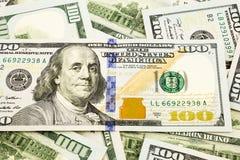 Nueva edición 100 billetes de banco del dólar, moneda para el invesment e ins Foto de archivo libre de regalías