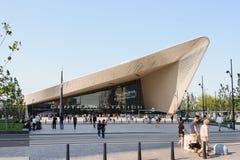 Nueva estación de la central de Rotterdam del sation de la estructura Imagen de archivo libre de regalías