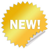 Nueva etiqueta engomada de la venta Fotos de archivo