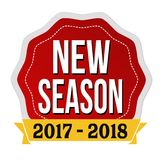 Nueva etiqueta o etiqueta engomada de la estación 2017-2018 Imágenes de archivo libres de regalías