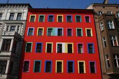Nueva fachada vieja Fotos de archivo