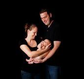 Nueva familia feliz Fotos de archivo libres de regalías