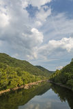Nueva garganta del río escénica Fotografía de archivo libre de regalías