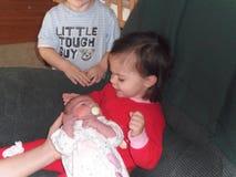 Nueva hermana Fotos de archivo libres de regalías