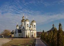 Nueva iglesia ortodoxa Imágenes de archivo libres de regalías