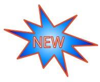 Nueva insignia Fotografía de archivo libre de regalías