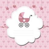 nueva invitación de la ducha de bebé stock de ilustración