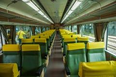 Nueva línea coches de la estación de Suao de tren Foto de archivo libre de regalías