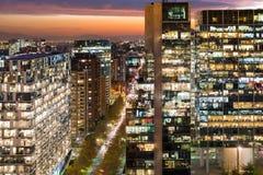 Nueva Las Condes. Office corporate buildings at Nueva Las Condes financial district Stock Photos