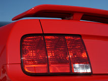 Nueva luz trasera roja del coche Imagen de archivo libre de regalías