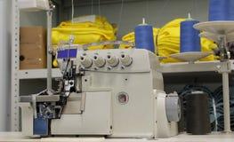 Nueva máquina de coser en la producción Imagen de archivo libre de regalías