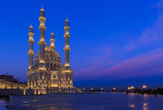 Nueva mezquita en Baku Imagen de archivo libre de regalías