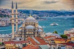 Nueva mezquita en Estambul foto de archivo libre de regalías