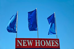 Nueva muestra de los hogares Fotografía de archivo libre de regalías