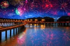 Nueva noche conveniente tropical Imágenes de archivo libres de regalías