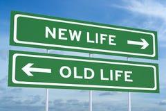 Nueva o vieja vida, concepto de las opciones de la forma de vida ilustración del vector