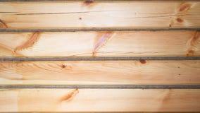 Nueva opinión de madera del cierre del fondo de la pared Foto de archivo libre de regalías