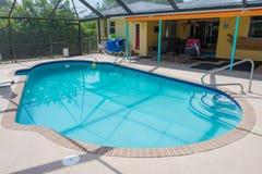 Nueva piscina llenada de agua Foto de archivo libre de regalías