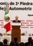 Nueva planta de coche de Nissan en México Fotos de archivo libres de regalías