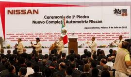 Nueva planta de coche de Nissan en México Fotos de archivo