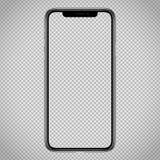 Nueva plantilla de Smartphone del vector para el interfaz de la web, maqueta de la versión parcial de programa del app Ningunos m libre illustration