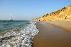 Nueva playa de la ciudad en Ashkelon Imagen de archivo