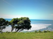Nueva playa del taranaki de Plymouth Fotos de archivo