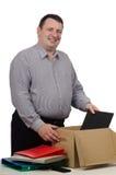 Nueva posición del vendedor grueso Fotos de archivo libres de regalías