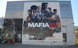 Nueva publicidad del videojuego de la mafia III en Brooklyn Fotos de archivo