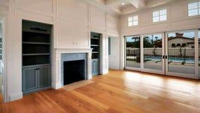 Nueva sala de estar casera moderna de la construcción almacen de video