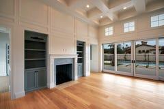 Nueva sala de estar moderna foto de archivo libre de regalías