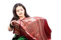 Nueva sari Imagen de archivo libre de regalías