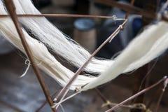 Nueva seda hecha girar Imagenes de archivo