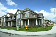 Nueva subdivisión de las propiedades inmobiliarias A.C. Foto de archivo