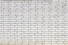 Nueva suciedad de la pared blanca del ladrillo imagen de archivo