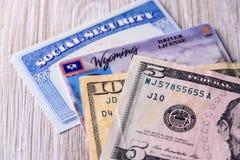 Nueva tarifa del carné de conducir en Wyoming los E.E.U.U. Fotos de archivo libres de regalías