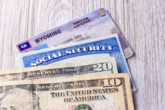 Nueva tarifa del carné de conducir en Wyoming los E.E.U.U. Fotografía de archivo libre de regalías