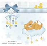 Nueva tarjeta de la ducha de bebé Imagen de archivo libre de regalías