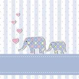 Nueva tarjeta de la invitación de la ducha de bebé Fotografía de archivo