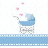 Nueva tarjeta de la invitación de la ducha del bebé Imagen de archivo libre de regalías