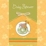 Nueva tarjeta del aviso del bebé Imagen de archivo
