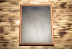 Nueva textura quemada de madera ligera con el tablero de tiza para el fondo Fotografía de archivo