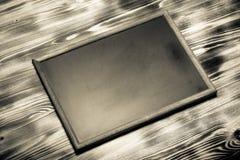 Nueva textura quemada de madera ligera con el tablero de tiza para el fondo Imágenes de archivo libres de regalías